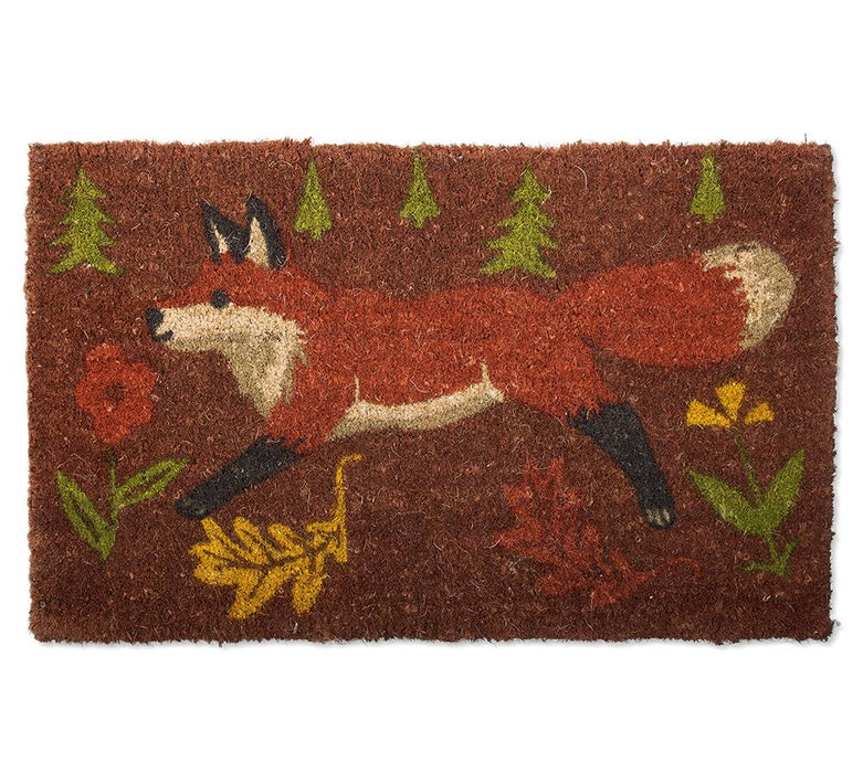 Forest Fox Coir Door Mat