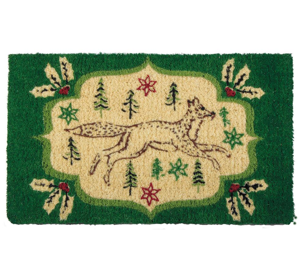 Evergreen Fox Coir Door Mat
