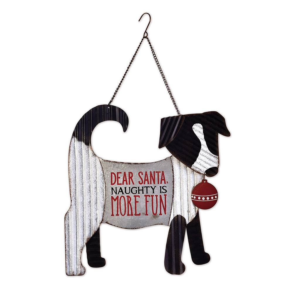 Dear Santa Dog Holiday Door Hanger