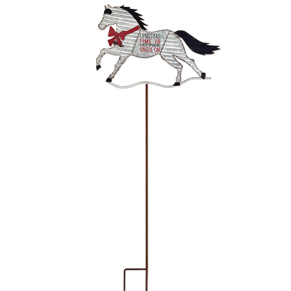 Jingle On Horse Garden Stake