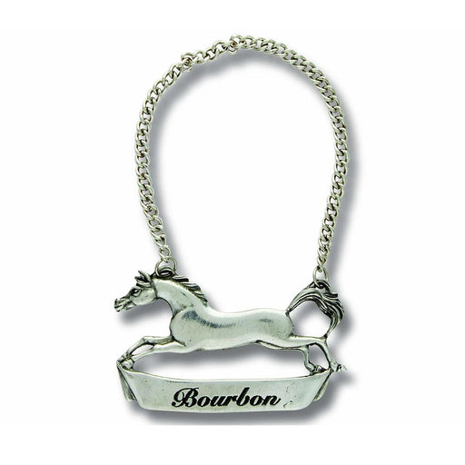 Running Horse Pewter Bottle Tag - Bourbon