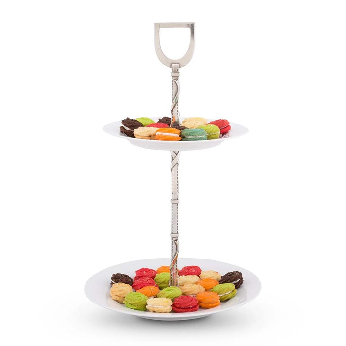 Equestrian Two-Tier Dessert Stand