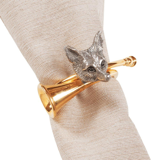 Golden Horn Fox Napkin Ring