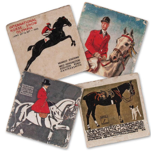 Equestrian Riders Marble Coasters