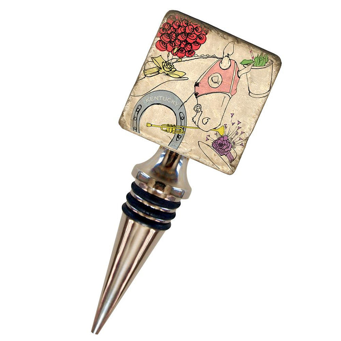 Derby Celebration Marble Wine Stopper