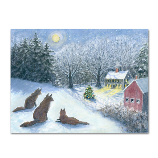 Silent Watch Fox Christmas Cards by Cindy Hendrick