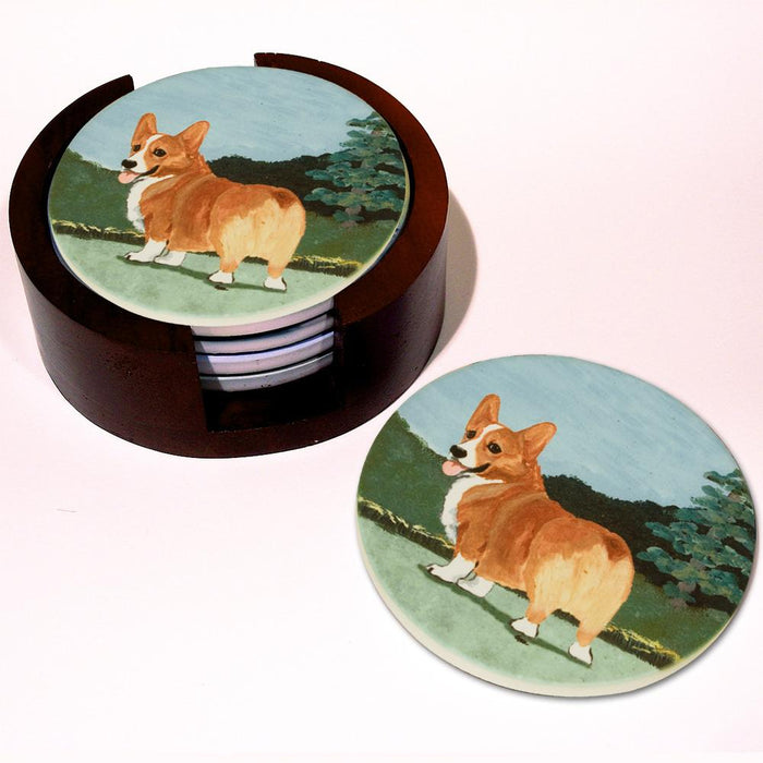 Corgi Bisque Coasters Set of 4