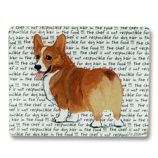 Sable Corgi Glass Cutting Board