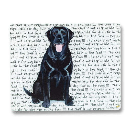 Black Lab Glass Cutting Board