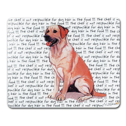 Yellow Lab Glass Cutting Board