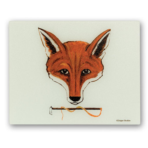 Fox Mask Glass Cutting Board