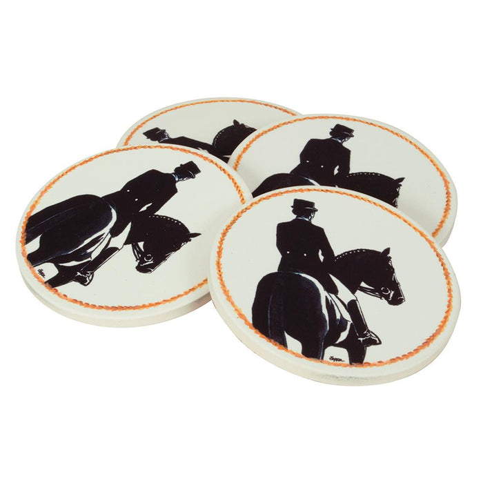 Dressage Bisque Coasters