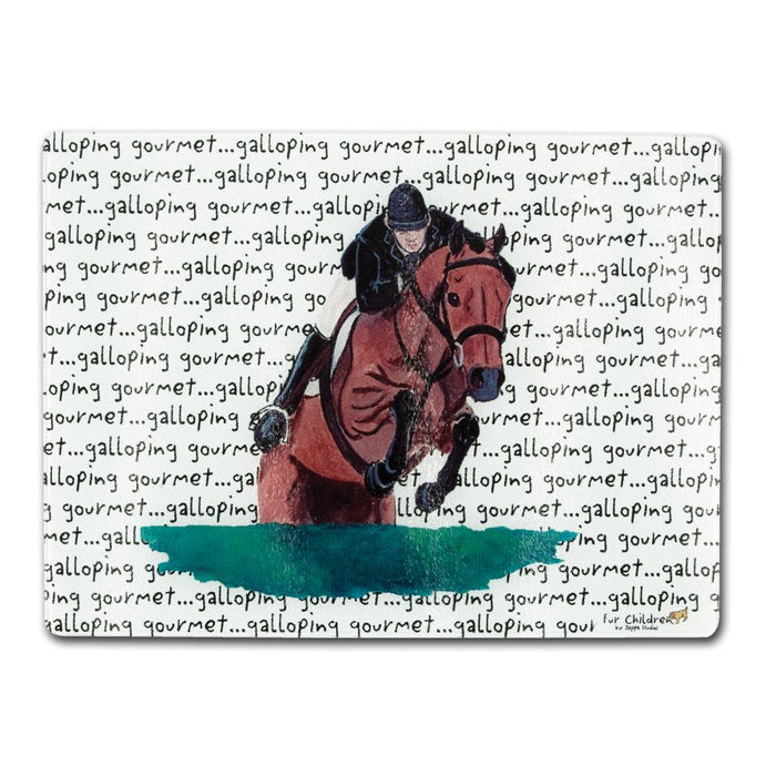 Hunter Jumper Glass Cutting Board