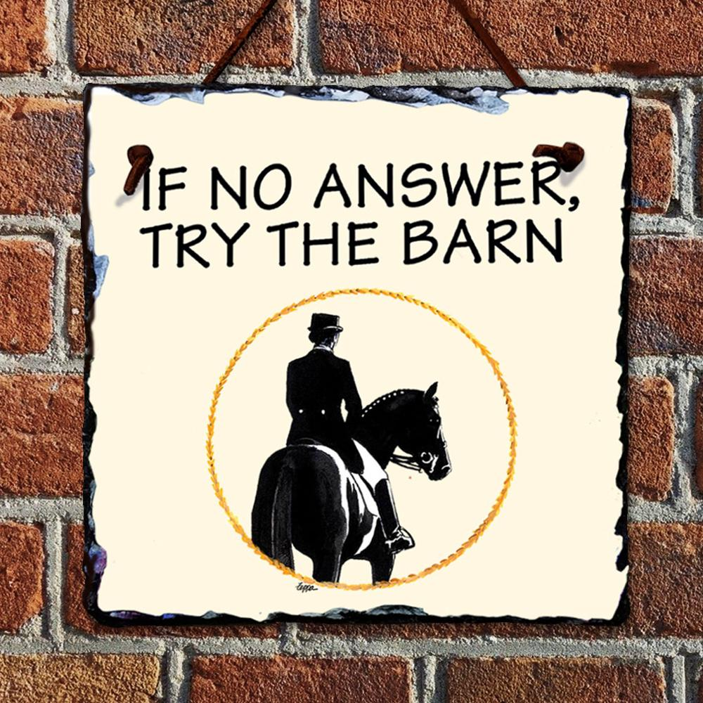 Dressage At The Barn Hanging Slate Sign