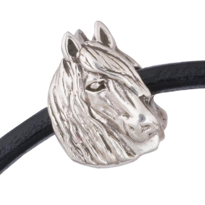 Shaggy Horse Silver Bead Charm by Jane Heart