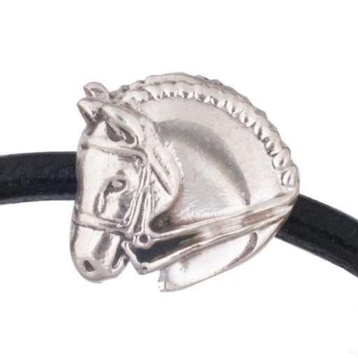 Dressage Horse Silver Bead Charm by Jane Heart