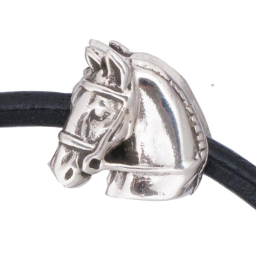 Braided Hunter Silver Bead Charm by Jane Heart