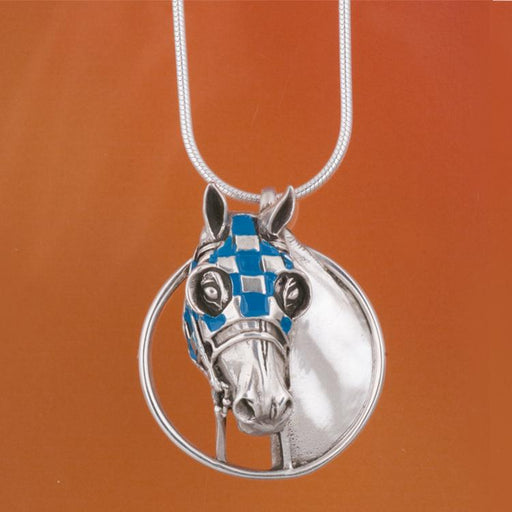 Secretariat Enameled Pendant - Small by Jane Heart