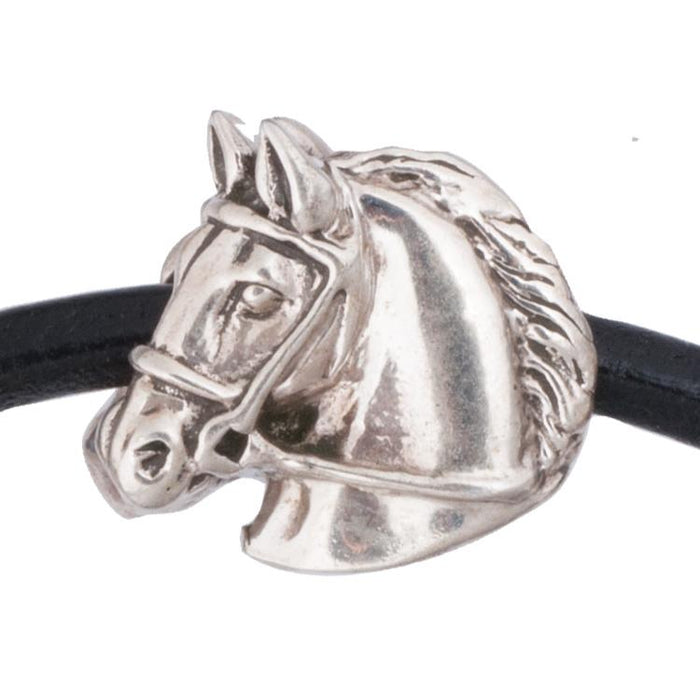 Thoroughbred Silver Bead Charm by Jane Heart