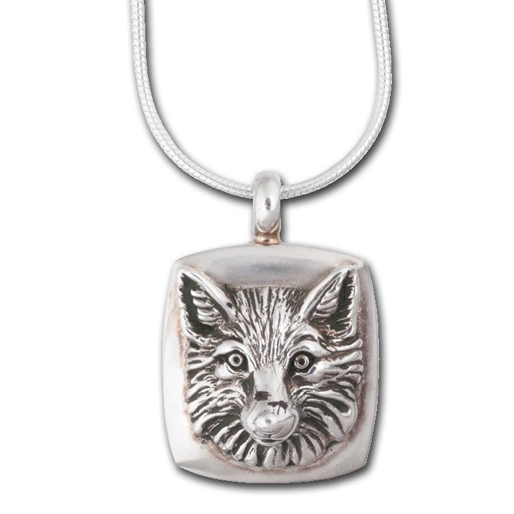 Fox Silver Frame Pendant by Jane Heart