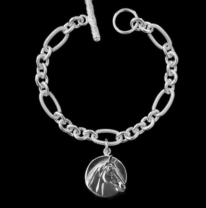 Man o' War Sterling Charm Bracelet