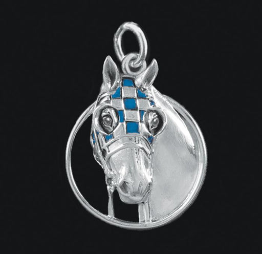Secretariat Enameled Charm by Jane Heart