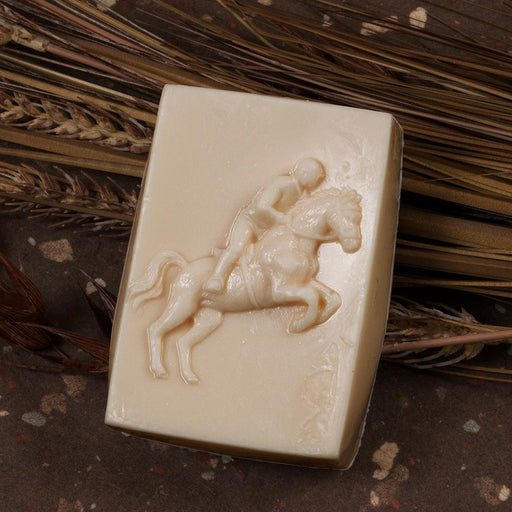 Bourbon Scented Jumping Horse Guest Soap
