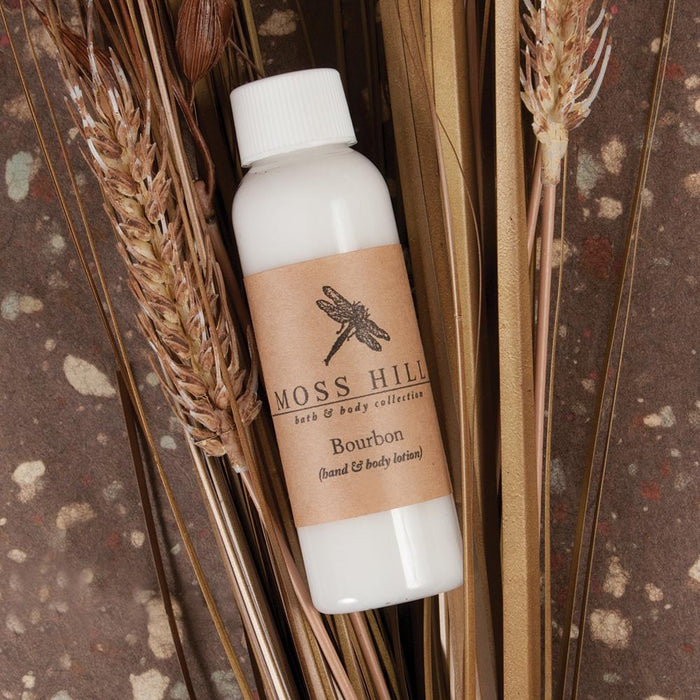 Bourbon Scented Hand & Body Lotion - 2oz.