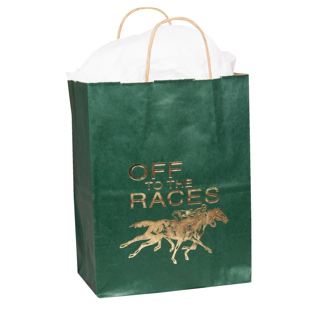 Off to the Races - Paper Gift Bag