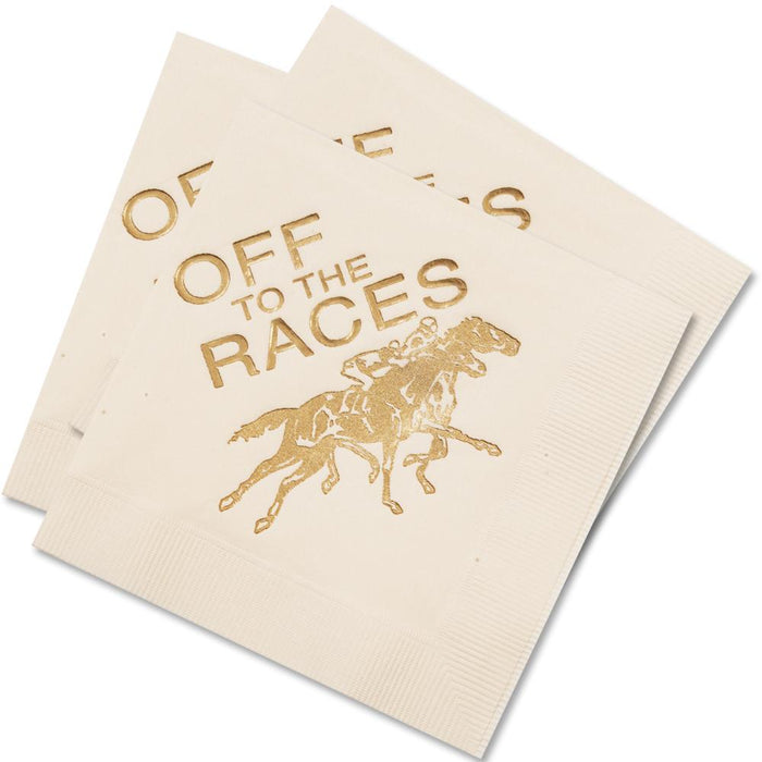 Off to the Races - Paper Beverage Napkins