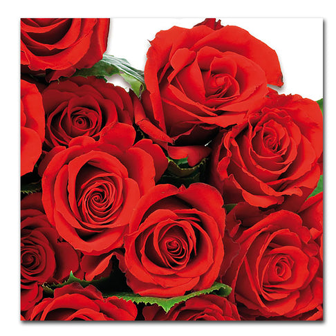 Red Roses Paper Napkins - Luncheon