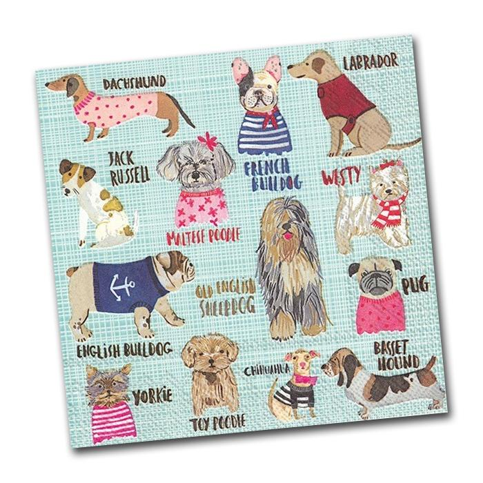 Hot Dogs Paper Napkins - Luncheon