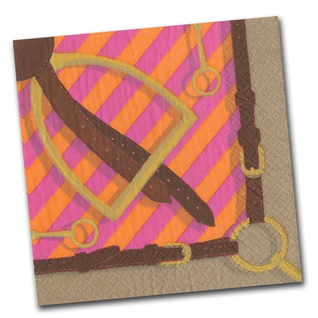 Stirrup and Silks Luncheon Napkins - Fuchsia - Napkins2go