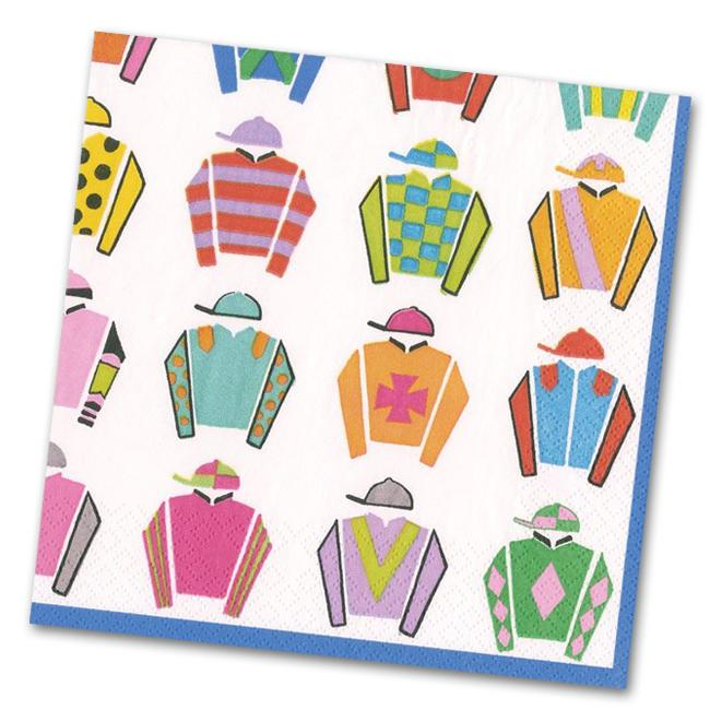 Jockey Silks Paper Luncheon Napkins