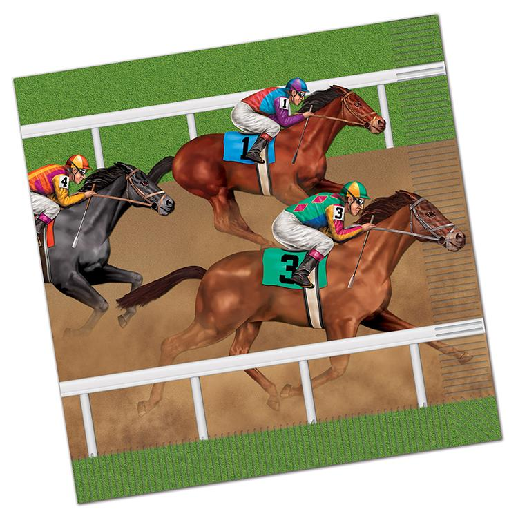 Horse Racing Paper Napkins - Luncheon