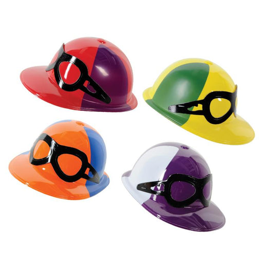 Derby Party Plastic Jockey Helmets - Pkg/4 assorted