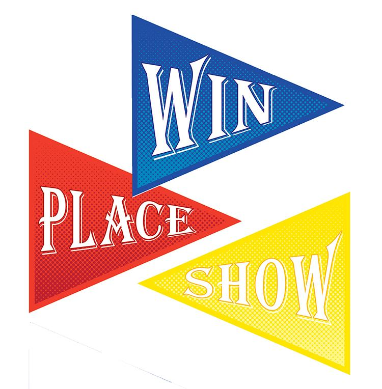 Win, Place & Show Horse Racing Party Cutouts