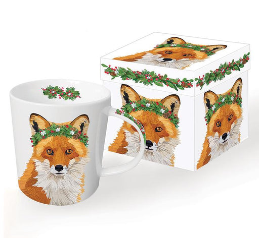 Holiday Fox Mug - Gift Box