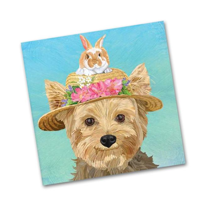 Ella the Yorkie Beverage Napkins