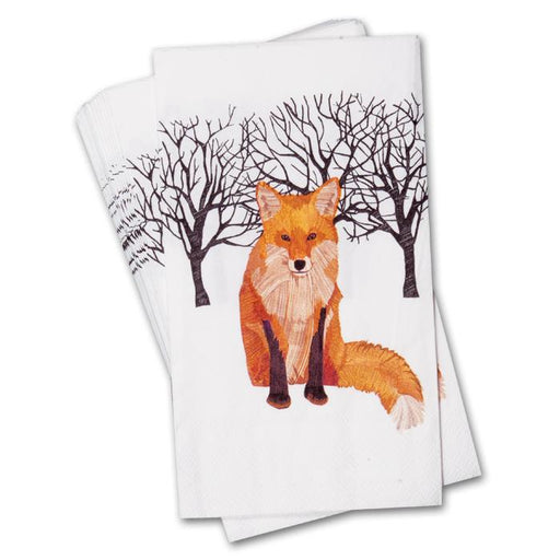 Winter Fox Paper Guest Towels