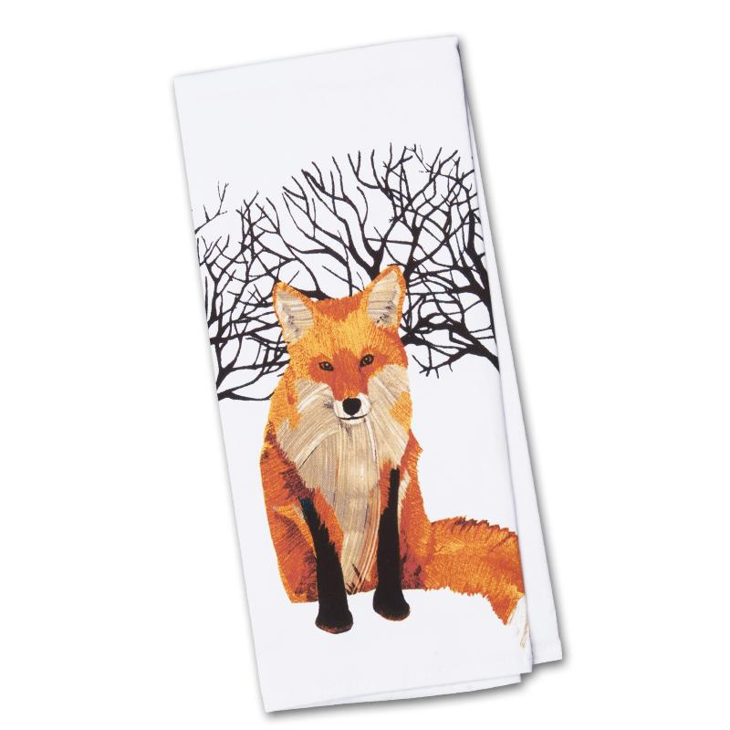 Winter Fox Kitchen Cotton Towel