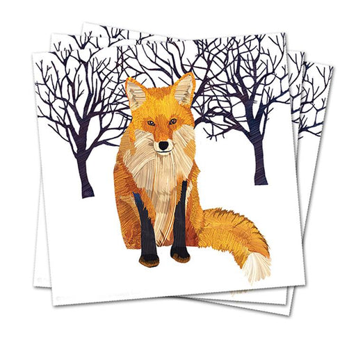 Winter Fox Paper Napkins - Luncheon