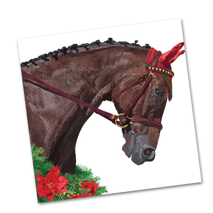 Gunnar Bay Holiday Horse Beverage Napkins