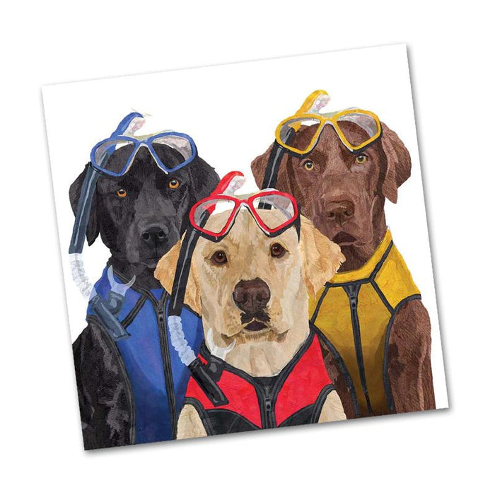 Labradors, The Three Musketeers Beverage Napkins