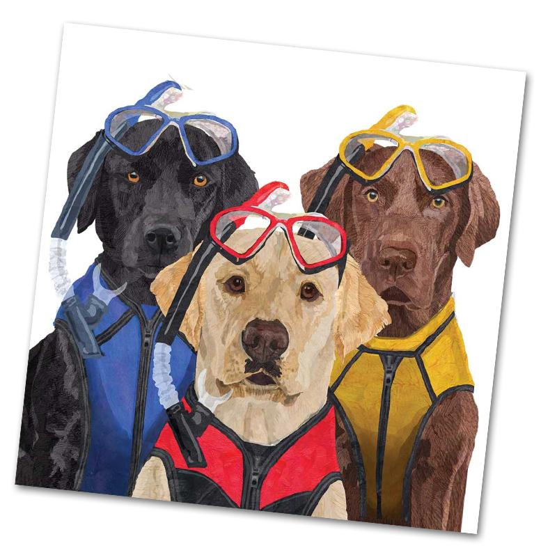 Labradors, The Three Musketeers Luncheon Napkins