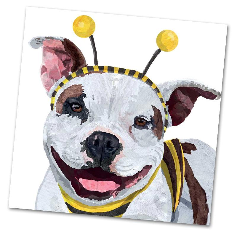 Widget the Pitbull Luncheon Napkins