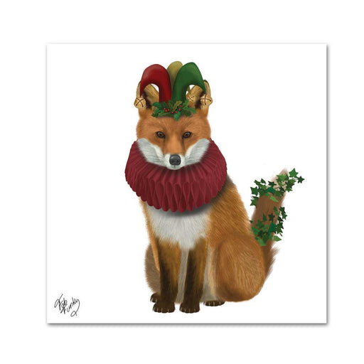 Beatrix Holiday Fox Paper Beverage Napkins