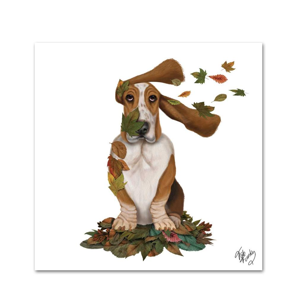 Willard the Basset Hound Paper Beverage Napkins