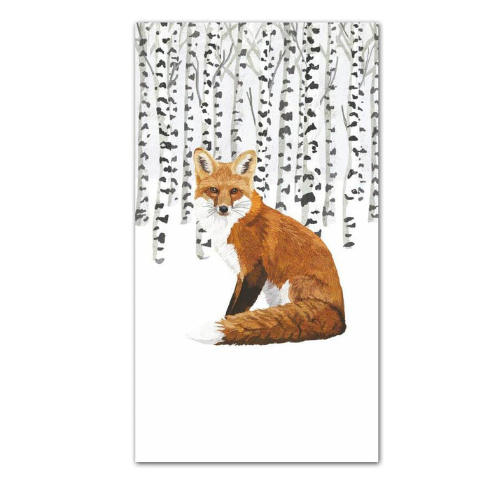 Wilderness Fox Paper Guest Towels - Buffet Napkins