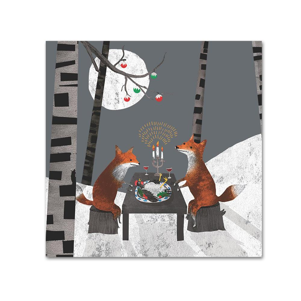 Foxes Midnight Feast Paper Beverage Napkins